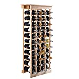 44 Bottle Wood Wine Rack Storage Display Shelves Kitchen Decor Natural