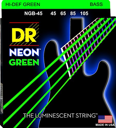 DR Strings NGB-45  Coated Nickel Bass Guitar Strings, Medium