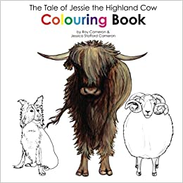 The Tale of Jessie the Highland Cow Colouring Book: Amazon.co.uk ...