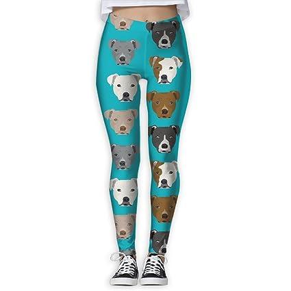 Amazon com : Pitbull Pattern Women Funny Print Yoga Leggings Pants