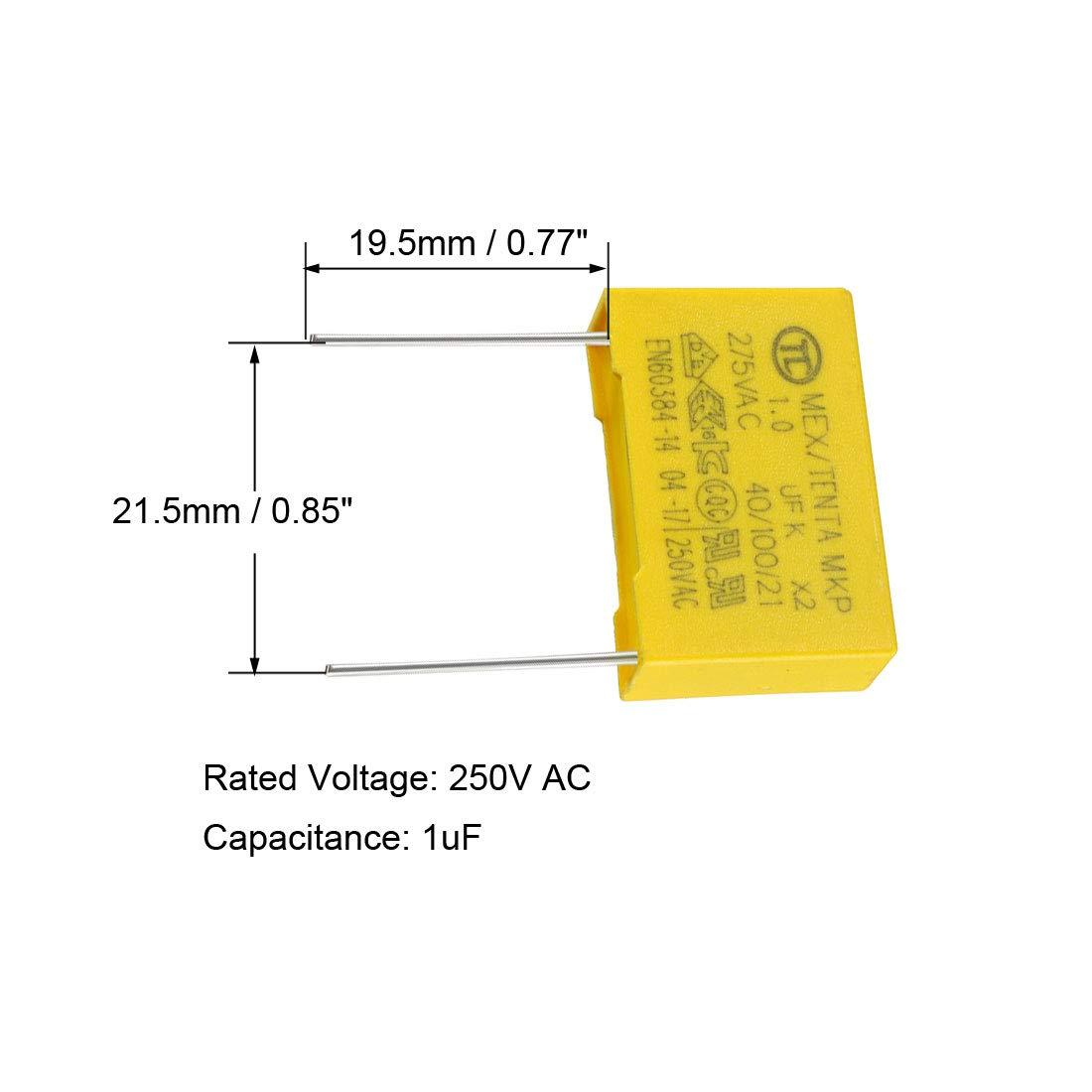 sourcing map Film polypropyl/ène Condensateur s/écurit/é 0.022uF 275VAC X2 MKP 10Pcs
