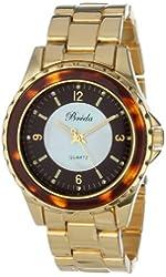 Breda Women's 5182-tortoiseshell Sophia Oversized Unidirectional Tortoise Accented Bezel Watch