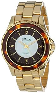 Breda Women's 5182-tortoiseshell Sophia Oversized Unidirectional Tortoise Accented Bezel Watch
