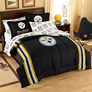 Nfl Pittsburgh Steelers 5 Piece Full Size Bedding Set Sports Outdoors