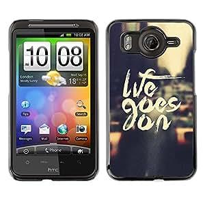 TopCaseStore / la caja del caucho duro de la cubierta de protección de la piel - Life Goes On Nyc Cab Text Vignette City - HTC G10
