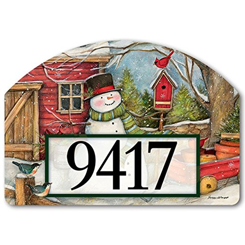 YardDeSign Red Barn Snowman Yard DeSign Yard Sign 71434