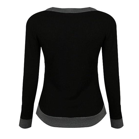 Amazon.com: Clearance! Teresamoon Women V Neck Long Sleeve Casual Curve Hem Sweater Women Fashion Tops: Clothing