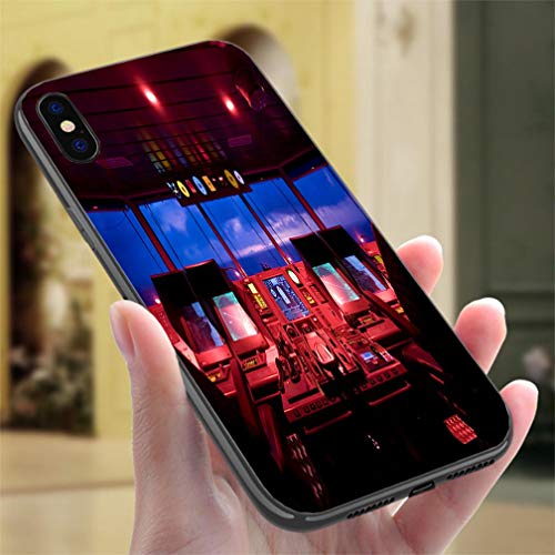 Creative iPhone Case for iPhone X/XS Wheelhouse in Modern Ship Bridge Resistance to Falling, Non-Slip,Soft,Convenient Protective Case