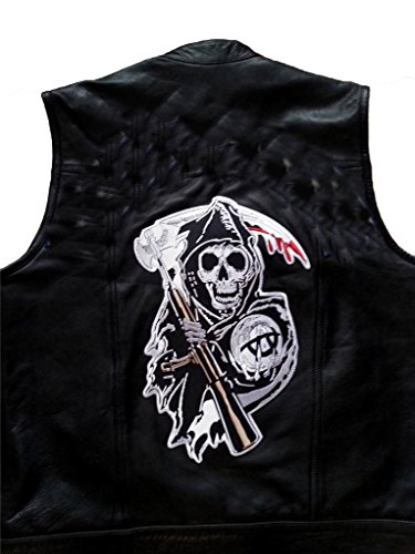 Sons Of Anarchy Halloween Costume (Grim Reaper XL Biker Back Patch - Sons of Anarchy)