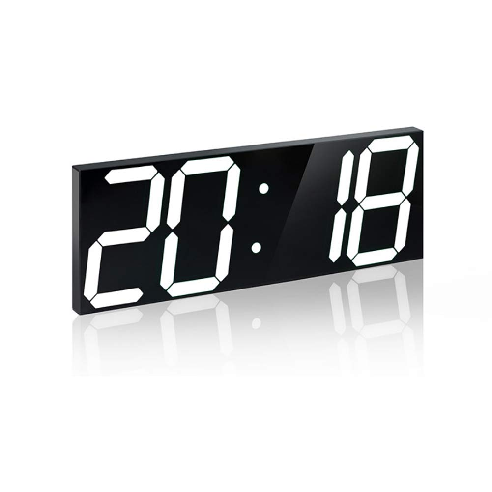 LEDステレオクロックデジタル目覚まし時計アクリルステレオクロック,White B07SBSPF4M White