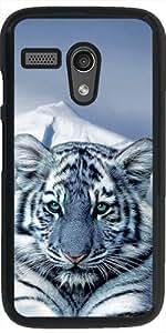 Funda para Motorola Moto G (Generation 1) - Azul Tigre Blanco by Erika Kaisersot