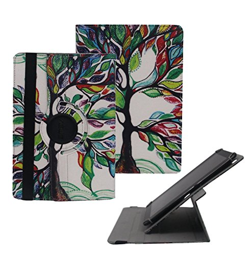 (Tsmine Samsung Galaxy Tab 2 10.1 Rotating Case - Universal Protective Fashion Printed Rotary Leather Case Stand Cover for Galaxy Tab 2 10.1 GT-P5100, Luck Tree)