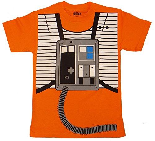 Star Wars Luke Skywalker X-wing Costume T-shirt (Medium,Orange)