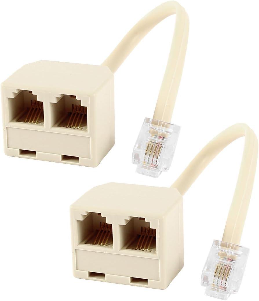 Multiprise double RJ11 6p4c pour c/âble cordon ADSL modem Internet t/él/éphone Aerzetix