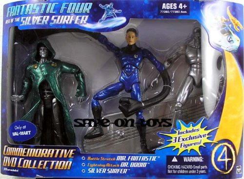 Fantastic Four: Rise Of The Silver Surfer Commemorative DVD Collection with Dr. Doom, Mr. Fantastic, and Silver Surfer