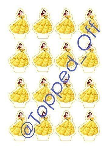 40 Princess Belle Beauty The Beast stand up edible cup cake Classy Princess Belle Decorations