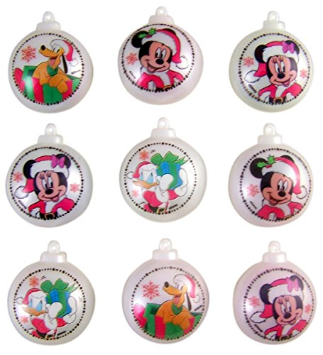 Disney Mickey Mouse and Friends Candy Filled Christmas Ornament Containers, Set of - Mickey Christmas Disney Mouse Ornaments