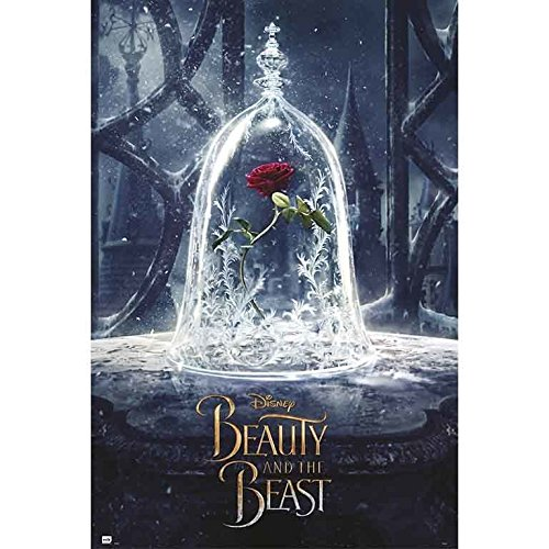 Grupo Erik editores gpe5140Poster with Design The Beauty and The Beast, Color Rose