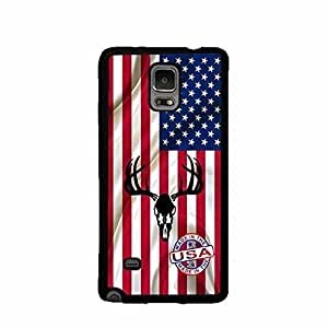 Made In The USA Flag Deer Head Galaxy Note 4 PC Phone Case