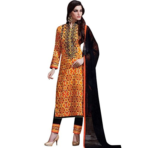Readymade-Ethnic-Print-Cotton-Embroidery-Salwar-Kameez-Suit-Indian