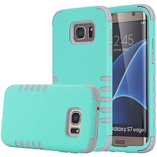 Shockproof Armor Case for Samsung Galaxy S7 Edge (Crystal/Black) - 7