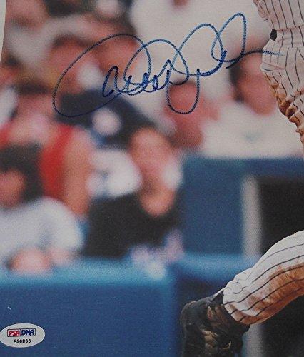 - Derek Jeter Autographed Signature Auto New York Yankees 16x20 Canvas Photo - PSA/DNA Certified
