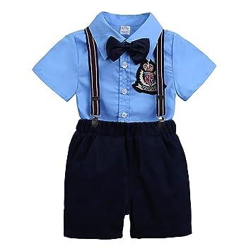 Amazon.com: Traje para bebé, para niños con lazo, botón ...