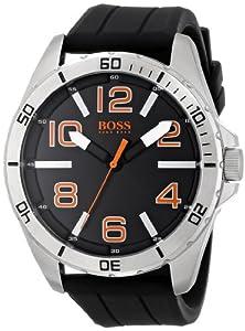 HUGO BOSS Orange Men's 1512943 Big Time Analog Display Quartz Black Watch