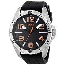 BOSS Orange 1512943 Big Time Reloj negro con movimiento de cuarzo y visualización analógica, para hombre