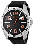 BOSS Orange Men's 1512943 Big Time Analog Display Quartz Black Watch