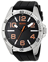 Boss Orange Men's 1512943 Big Time Analog Display Quartz Black Watch