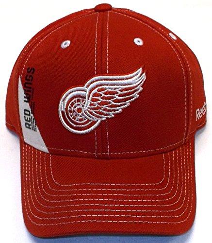 Reebok Detroit Red Wings Red Vertical League Adjustable Hat