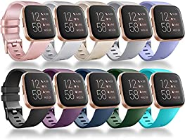 Vancle Bands Compatible for Fitbit Versa Band, Classic Soft Sport Band Strap for Fitbit Versa/Versa Lite/Versa SE/Versa 2...