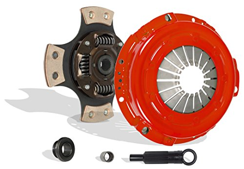 Clutch Kit Works With Ford Ranger Bronco II Eddie Base S XL XLT XLS 1983-1984 2.0L 2.3L L4 GAS SOHC 2.8L V6 GAS OHV 2.2L L4 DIESEL OHV Naturally Aspirated (Stage 3 4-Puck Disc)