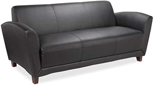 Lorell Leather Reception Sofa