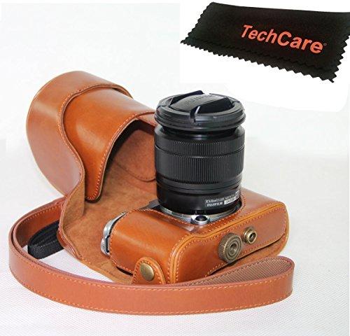 "TechCare ""Ever Ready"" Protective Leather Camera Case Bag for Fujifilm X-A3, Fujifilm X-A2 Digital Cameras with XC16-50 mm Lens , Fujifilm X-A3 case, Fujifilm X-A2 case"