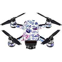 Skin For DJI Spark Mini Drone – Blue Petals | MightySkins Protective, Durable, and Unique Vinyl Decal wrap cover | Easy To Apply, Remove, and Change Styles | Made in the USA