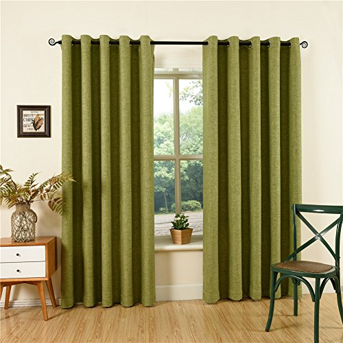 Qinuo Home Soft Weave Home Decor Fully Lined Ready Made Thermal Insulated Grommet to Curtains...
