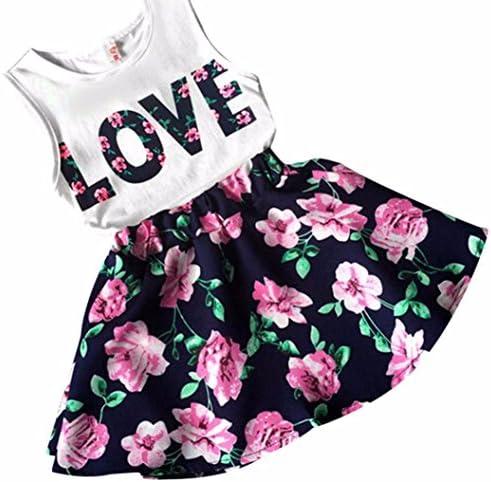 DaySeventh Toddler Girls Cute Outfit Clothes Elephant Print T-Shirt Tops+Skirt 1Set