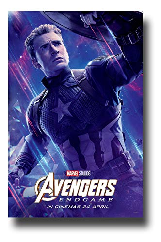 Avengers Endgame Poster Movie Promo 11 x 17 inches Captain America Blue Galaxy