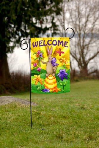Toland Home Garden Welcome Bunny 12 5 X 18 Inch Decorative