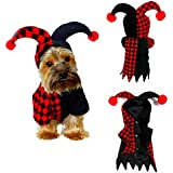 Elibeauty Pets Costumes, Festival Parties Christmas Dogs Cats Super Funny Crazy Clown Style Clothes Cosplay Party Funny Outfit Clothes M