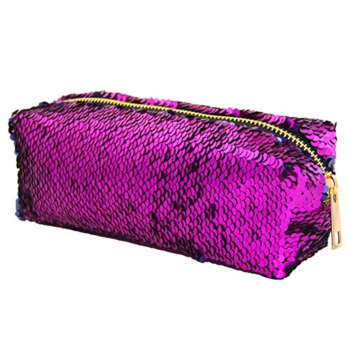 MHJY Mermaid Sequin Cosmetic Bag Magic Sequins Makeup Pouch Fashion Color Changing Makeup Bags DIY Reversible Sequins Handbag Glitter Pencil Case