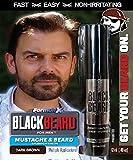Black Beard For Men Beard Hair Color (Dark Brown)