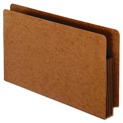 Pendaflex 95545 Heavy-Duty End Tab File Pockets, Straight Cut, 1 Pocket, Legal, Brown (Box of 10)