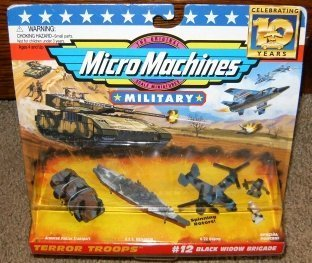 Micro Machines Military Black Widow Brigade #12 Collection