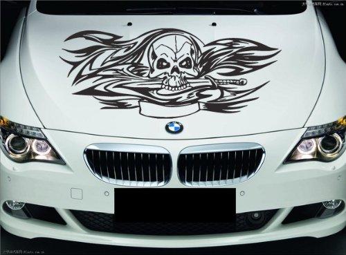 - Floral Skull Car Boat Vinyl Graphics Decal Left & Right Side Vinyl Sticker z943