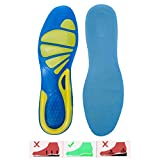 WAOBAOS Sports Gel Insoles and shoe inserts for Women and Men Comfort Shoe Insoles arch support for Walking Hiking Plantar Fasciitis Heel Spur Foot Pain. (6-10 US, Green / blue)
