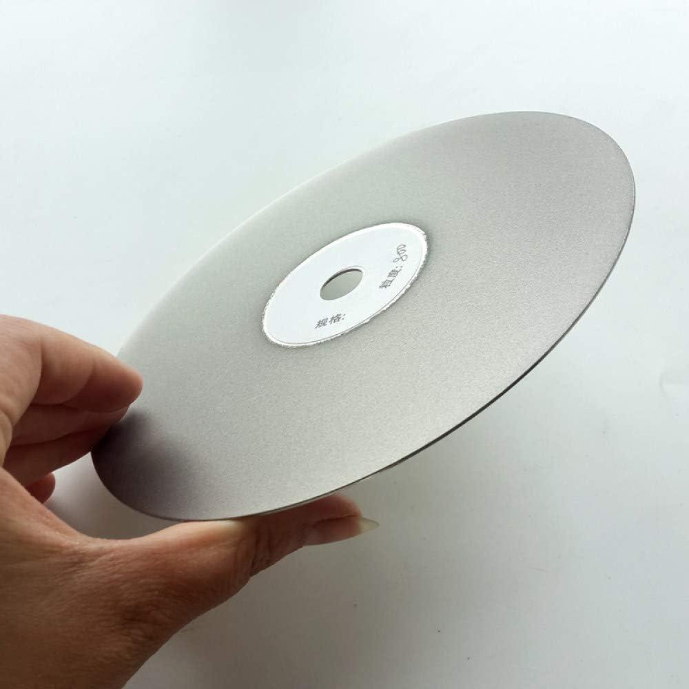 YANJHJY 1 piezas 6 pulgadas;Disco de pulido de diamante de un solo lado de 150 mm, disco abrasivo de revestimiento plano con recubrimiento abrasivo para lapidario de piedras preciosas, P600
