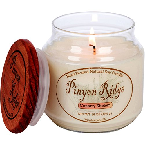 Authentic Hand Poured Natural Soy Candle (16oz) - 'Country Kitchen' - 100 Hour Burn Time - Crafted in the USA by Pinyon Ridge